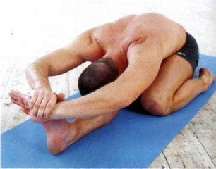 Трианга Мукхаикапада Пашимоттанасана - Наклон вперед с одной согнутой ногой