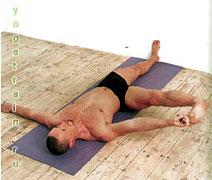 Супта Падангуштхасана II - Поза лежа на спине с растяжкой ног
