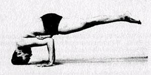 Эка Пада Галавасана – Поза мудреца Галавы с вытянутой ногой
