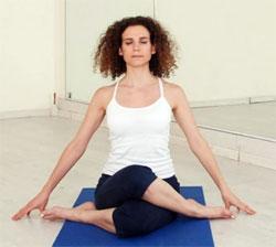 Дхьяна Вирасана - Поза Героя в медитации