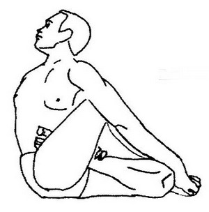 Парипурна Матсиендрасана - Поза завершенной скрутки сидя
